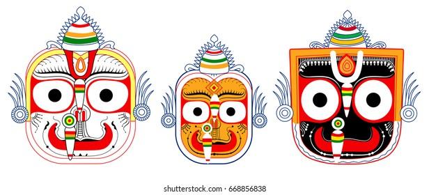 Balabhadra subhdra Jagannath colourful face created on 30th June