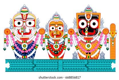 Balabhadra subhdra Jagannath on Ratna vedi, colourful pattachitra created on 30th June