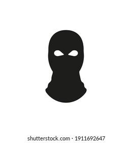 Balaclava icon. Bandit mask. Vector. Flat design.