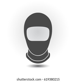 Balaclava mask symbol simple silhouette icon on background