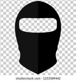 Balaclava in style of flat on a transparent background, vector illustration