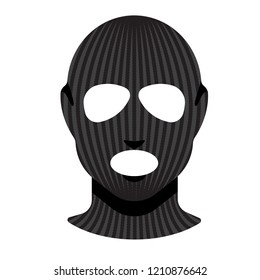 Balaclava. Vector style. A piece of clothing for winter sports or a mask for a criminal or a thief. Fashion accessory for women
