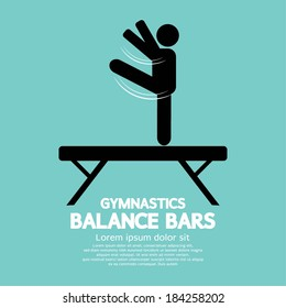 Balance Bars Gymnastics Vector Illustration