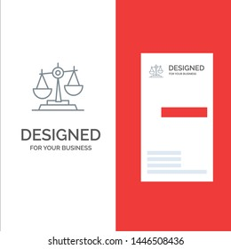 Balance, Court, Judge, Justice, Law, Legal, Scale, Scales Grey Logo Design and Business Card Template