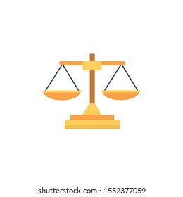 balance design, Law justice legal judgment judicial authority freedom and crime theme Vector illustration