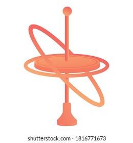Balance gyroscope icon. Cartoon of balance gyroscope vector icon for web design isolated on white background