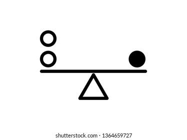 Balance icon vector illustration on background