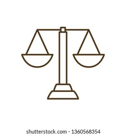 balance of justice isolated icon
