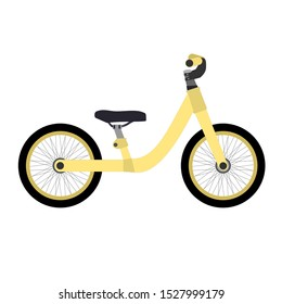 Balance kid bike isolated. Flat design icon vector illustration.