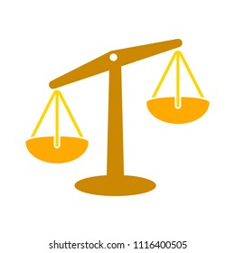 Balance scale icon, balance symbol - justice sign