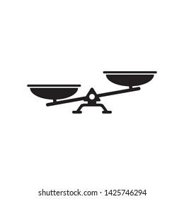 balance scale icon vector illustration