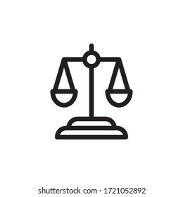 Balance Scales Icon In Trendy  Design Vector Eps 10