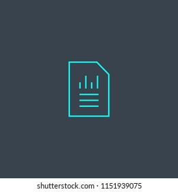 Balance Sheet concept blue line icon. Simple thin element on dark background. Balance Sheet concept outline symbol design from Accounting set. Can be used for web and mobile UI/UX