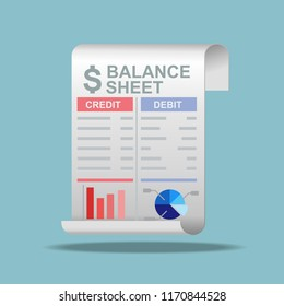 Balance sheet icon vector illustration.