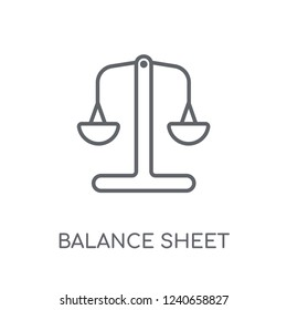 Balance sheet linear icon. Modern outline Balance sheet logo concept on white background from business collection. Suitable for use on web apps, mobile apps and print media.