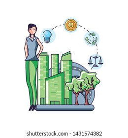 Balance and sustainability design icon vector ilustration