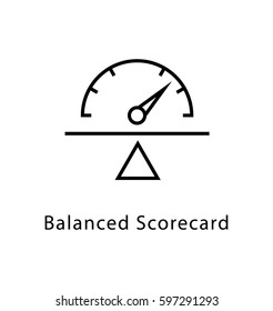 Balanced Scorecard Vector Line Icon