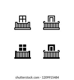 Balcony Icon Logo Vector Symbol. Window Icon