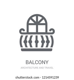 Balcony icon. Trendy Balcony logo concept on white background from Architecture and Travel collection. Suitable for use on web apps, mobile apps and print media.
