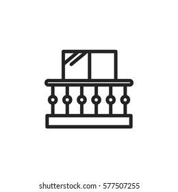 balcony vector icon. Modern, simple flat vector illustration for web site or mobile app