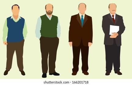 Bald Business Men