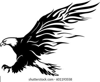 Bald Eagle Flame Abstract