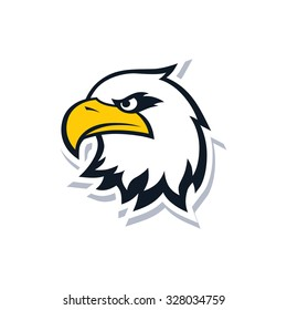 bald eagle head logo - logotype