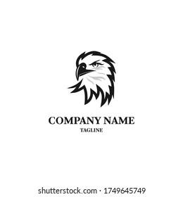 Bald eagle logo design template. Awesome a bald eagle logo. A bald eagle lineart logotype.