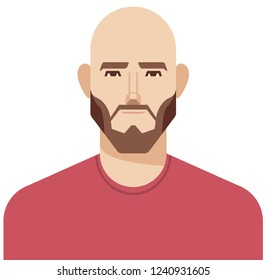 Bald man illustration in vector