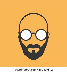 Bald-headed man