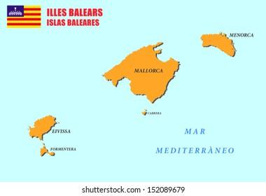 Baleares Mapa Stock Illustrations Images Vectors Shutterstock