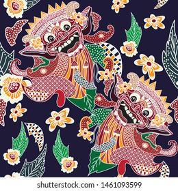 barong images stock photos vectors shutterstock https www shutterstock com image vector bali batik barong head image iconic 1461093599