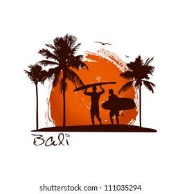 Bali illustration