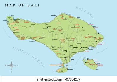 Map of Bali Images, Stock Photos & Vectors | Shutterstock