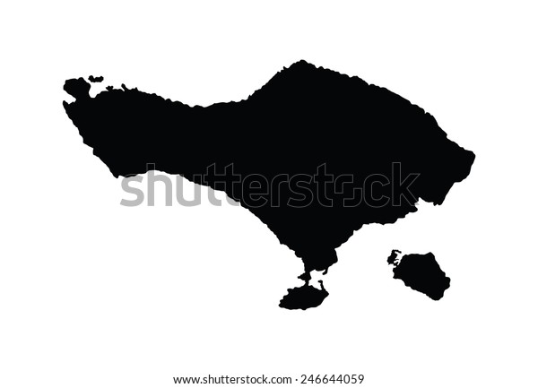 Bali Vector Map Silhouette Isolated On Stock Vector Royalty