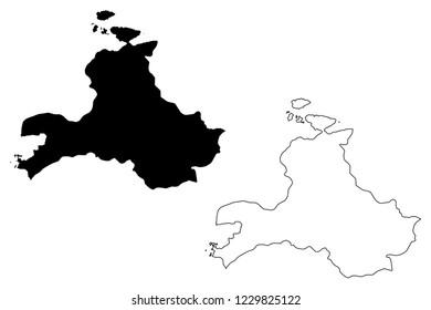 Balikesir (Provinces of the Republic of Turkey) map vector illustration, scribble sketch Balikesir ili map