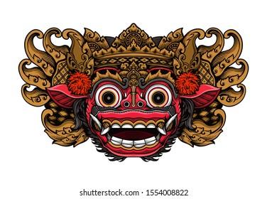 balinese barong mask vector eps format stock vector royalty free 1554008822 balinese barong mask vector eps format