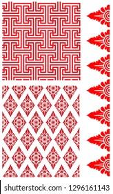 balinese motifs in vector