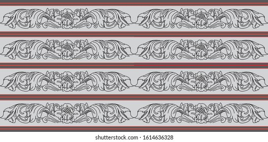 Balinese traditional culture ornaments architecture. Vector EPS10