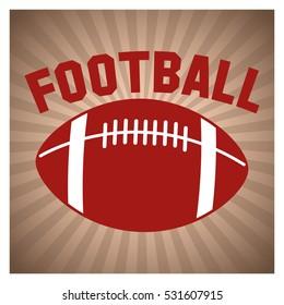 Ball of american football design