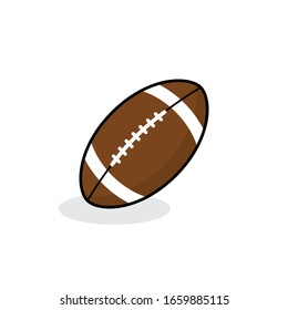 Ball for american football with shadow isolated on white background. Football icon. Vector illustration. EPS10
