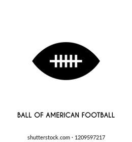 Ball of american fotball vector icon