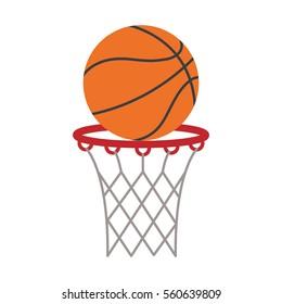 ball basket basketball score shooting vector illustration eps 10