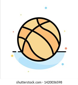 Ball, Basketball, Nba, Sport Abstract Flat Color Icon Template