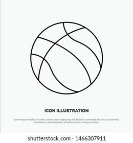 Ball, Basketball, Nba, Sport Line Icon Vector. Vector Icon Template background