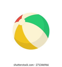 Ball beach toy. Isolated icon pictogram. Eps 10 vector illustration.