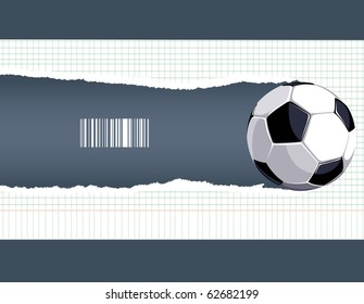 The ball breaks a piece of paper