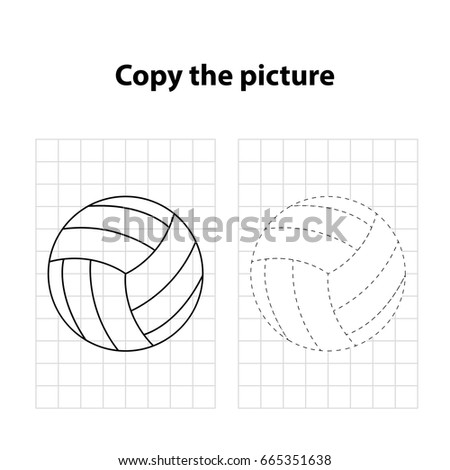 Ball Copy Picture Game Children Worksheet Stock Vector (Royalty Free ...