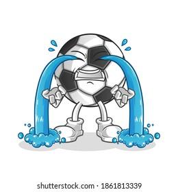 ball crying illustration. character vector