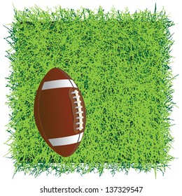 Ball for the game of American football. Vector illustration.